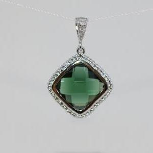 Wedding Jewelry, Emerald Green Glas..