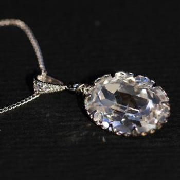 Swarovski Clear Oval Necklace (N014)